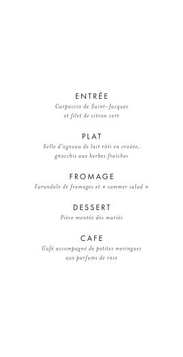 Menu de mariage Lettres d'amour bleu - Page 3
