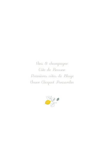 Menu de baptême Citrons jaune - Page 2