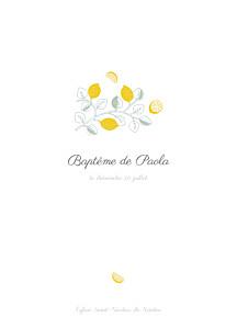 Livret de messe classique citrons jaune