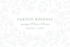 Carton réponse mariage Mille fougères vert