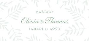 Etiquette de mariage vert mille fougères vert