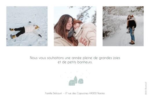 Carte de voeux Mon petit refuge 3 photos bleu
