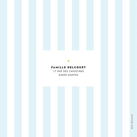 Faire-part de naissance Rayures pastel 4 pages vert