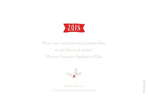 Carte de voeux Douce année photo blanc