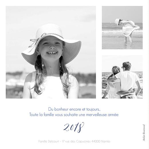 Carte de voeux Hello new year 3 photos bleu - Page 2