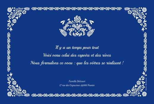Carte de voeux Papel picado 6 photos bleu