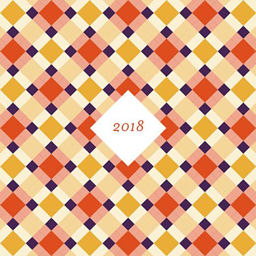 Carte de voeux Paddington orange violet