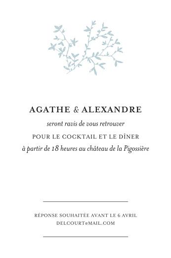 Carton d'invitation mariage Reflets dans l'eau vert