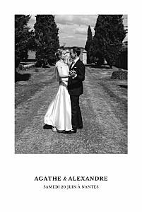 Carte de remerciement mariage mr & mrs clynk  reflets dans l'eau vert