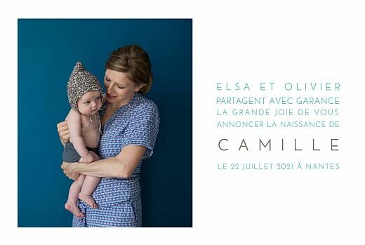 Faire-part de naissance Bilingue justifie 4 photos blanc - Page 3