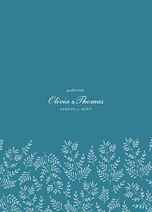 Livret de messe mariage Mille fougères bleu