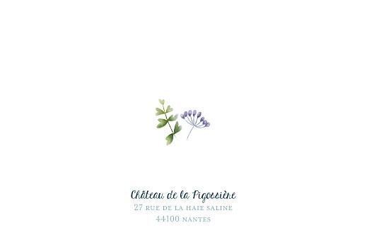 Carton d'invitation mariage Bouquet sauvage bleu - Page 2