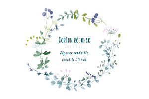 Carton réponse mariage original bouquet sauvage rose