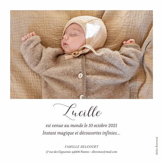 Faire-part de naissance Petits habits moutarde - Page 2
