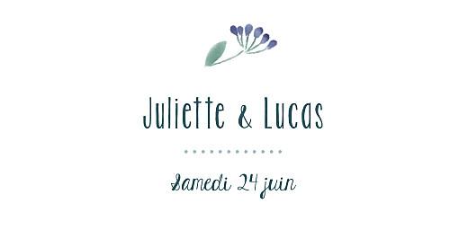 Marque-place mariage Bouquet sauvage bleu - Page 4