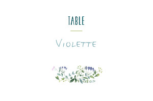 Marque-table mariage rose bouquet sauvage rose