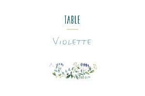 Marque-table mariage original bouquet sauvage rose