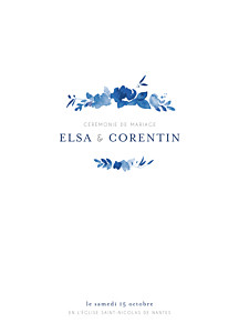 Livret de messe mariage tous genres jardin anglais bleu