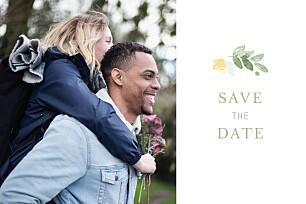 Save the Date Jardin anglais vert