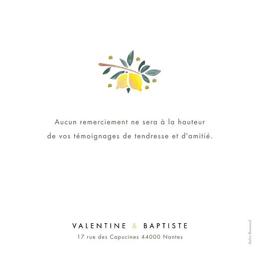 Carte de remerciement mariage Palermo blanc - Page 2