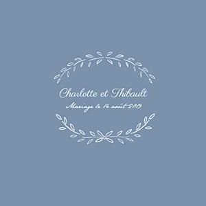 Faire-part de mariage Poème (4 pages) bleu