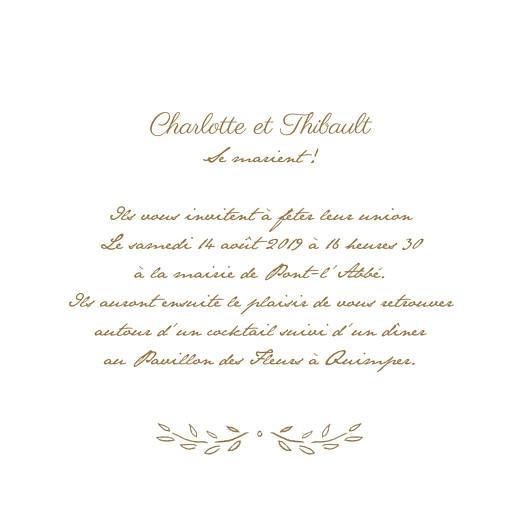 Faire-part de mariage Poème (4 pages) kraft - Page 3
