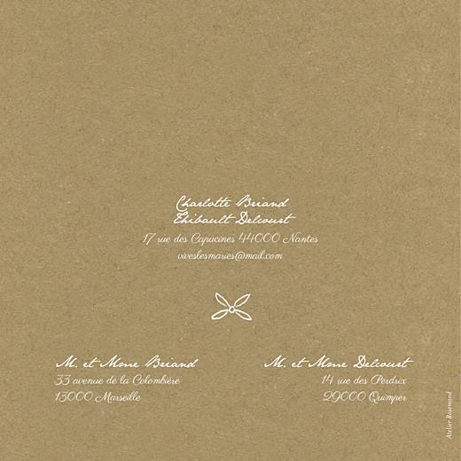 Faire-part de mariage Poème (4 pages) kraft - Page 4