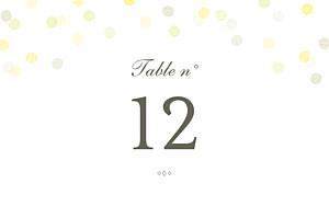 Marque-table mariage blanc polka kraft