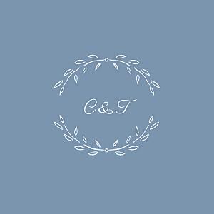 Carton d'invitation mariage bleu poème bleu