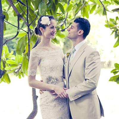 Carte de remerciement mariage Poème photo kraft finition