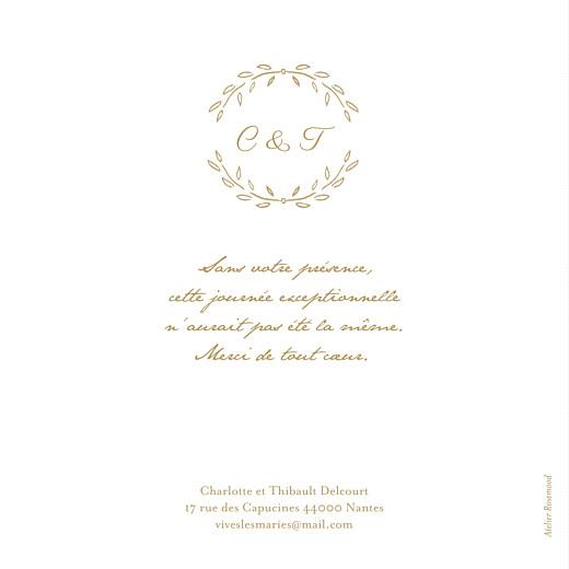 Carte de remerciement mariage Poème photo kraft - Page 2