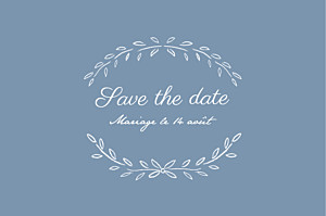 Save the Date Poème bleu