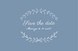 Save the date bleu poème bleu
