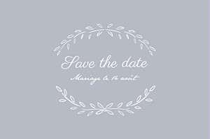 Save the date gris poème gris