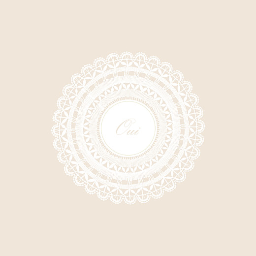 Faire-part de mariage Boudoir dentelle beige blanc - Page 2