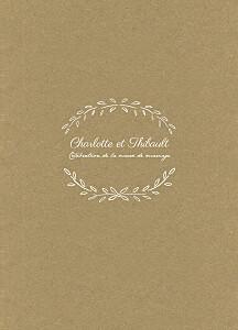 Livret de messe mariage marron poème kraft
