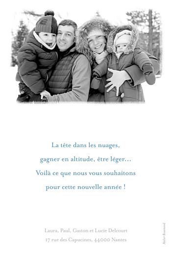Carte de voeux Matin d'hiver bleu & rose - Page 2