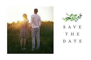 Save the date avec photo canopée vert