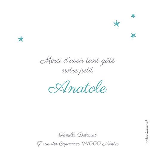 Carte de remerciement Petit ruban étoilé photo blanc turquoise - Page 2