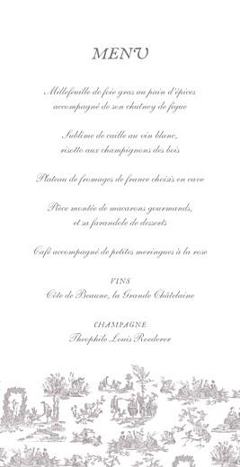 Menu de mariage Toile de jouy (4 pages) taupe - Page 3