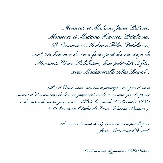 Faire-part de mariage Traditionnel blanc - Page 3
