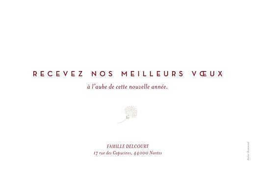 Carte de voeux Élégant feuillage (dorure) rouge - Page 2