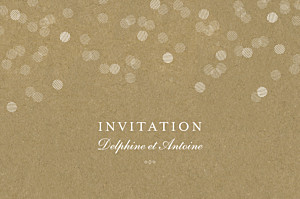 Carton d'invitation mariage kraft polka kraft
