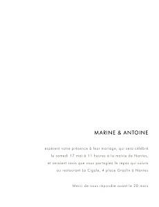 Faire-part de mariage argenté étincelles (dorure) bleu marine