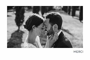 Carte de remerciement mariage vert étincelles (dorure) vert