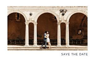 Save the date bleu étincelles (dorure) bleu marine