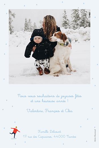 Carte de voeux Patinoire bleu - Page 2