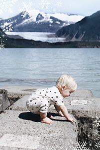 Carte de voeux merveilles d'hiver portrait bleu