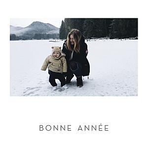 Carte de voeux photos élégant cœur (dorure) blanc