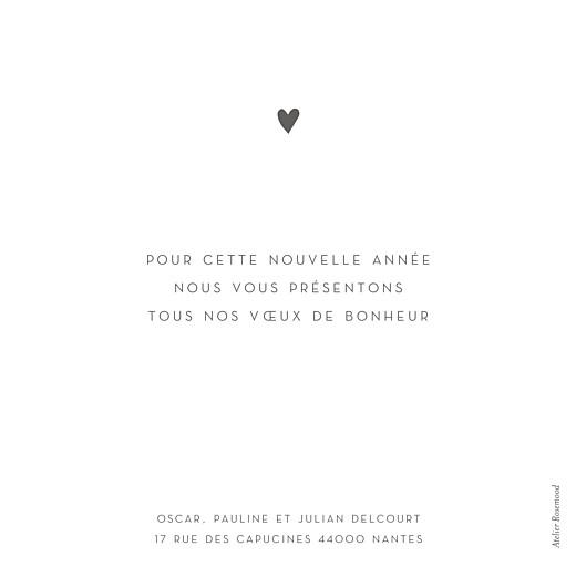 Carte de voeux Élégant cœur (dorure) blanc - Page 2